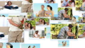 Montage of young couples spending special time together Royalty Free Stock Images