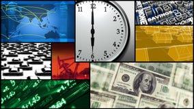 Montage - Zeit, Finanzierung, Geld, Geschäft lizenzfreie abbildung
