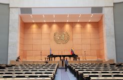 Montagehal van de V.N., Genève, Zwitserland Royalty-vrije Stock Fotografie