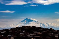 Montagem Ararat imagens de stock