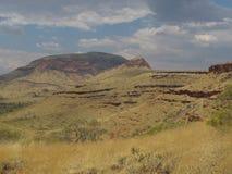 Montagem Bruce perto do parque nacional de Karijini, Austrália Ocidental imagem de stock