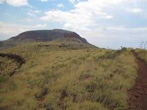 Montagem Bruce perto do parque nacional de Karijini, Austrália Ocidental fotografia de stock