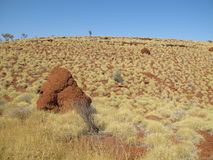 Montagem Bruce perto do parque nacional de Karijini, Austrália Ocidental imagens de stock royalty free