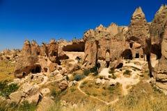 Montagem com cavernas Fotografia de Stock