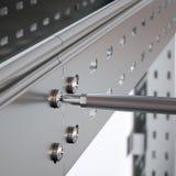 Montagem da bandeja de cabo do metal Foto de Stock Royalty Free