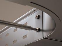 Montagem da bandeja de cabo do metal Foto de Stock