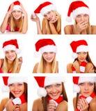 Montagem da mulher de Santa fotos de stock