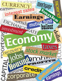 Montagem da palavra da economia Fotografia de Stock