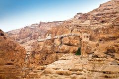 Montagem da tentação, Jericho, banco ocidental, Israel Fotos de Stock