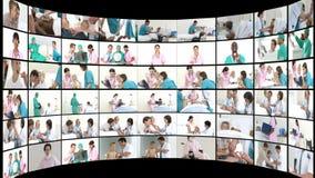Montagem das cenas médicas 1 video estoque