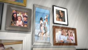 Montagem das famílias que têm o divertimento junto vídeos de arquivo