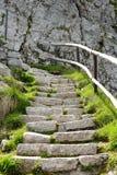 Montagem de pedra Pilatus das etapas, Suíça Foto de Stock
