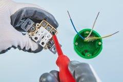 Montagem do interruptor padrão europeu fotografia de stock