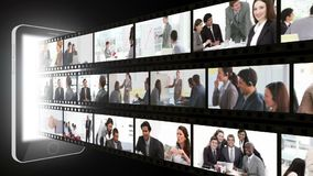 Montagem dos executivos em situações diferentes Imagens de Stock