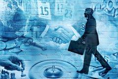 Montagem dos grafittis do negócio Imagem de Stock