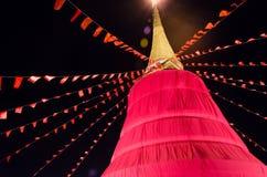 Montagem dourada Wat Saket do pagode dourado Imagem de Stock Royalty Free