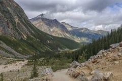 Montagem Edith Cavell Hiking Loop Trail imagem de stock royalty free