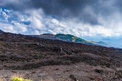 A montagem Etna Volcano, ilha de Sicília, Itália imagem de stock
