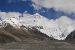 Montagem Everest de Ásia Tibet Fotos de Stock Royalty Free