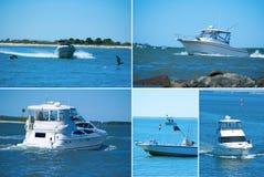 Montagem extra do desporto de barco do grande formato Fotos de Stock