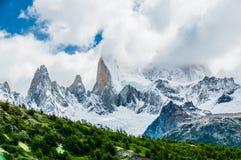 Montagem famosa Fitzroy, o Chile Fotos de Stock Royalty Free