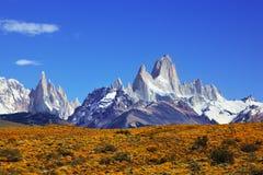 A montagem Fitzroy no Patagonia fotos de stock