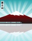 Montagem Fuji ilustração royalty free