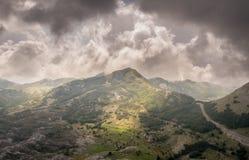 Montagem Lovcen em Montenegro Vista bonita foto de stock royalty free