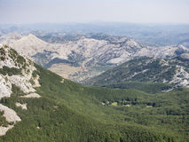 A montagem lovcen, Montenegro, Europa, vista Foto de Stock Royalty Free