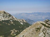 A montagem lovcen, Montenegro, Europa, vista Imagem de Stock Royalty Free
