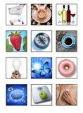 Montagem médica do estilo de vida da saúde fotografia de stock royalty free