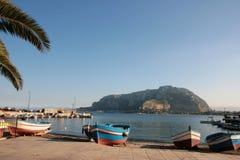 Montagem, mar & céu, Palermo Foto de Stock