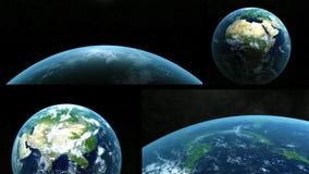 Montagem maravilhosa da terra do planeta ilustração stock