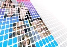 Montagem moderno dos povos Foto de Stock