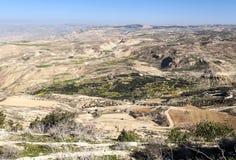 Montagem Nebo em Jordânia Imagens de Stock Royalty Free