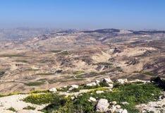 Montagem Nebo em Jordânia fotografia de stock royalty free