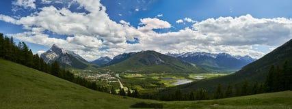Montagem Norquay, panorama do parque nacional de Banff Fotografia de Stock Royalty Free