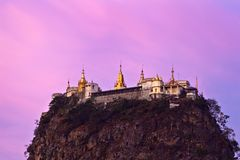 Montagem Popa, Myanmar Fotos de Stock