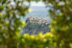 Montagem Popa o vulcão velho de Myanmar imagem de stock