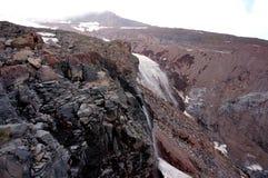 Montagem próxima Kazbeg da geleira de Gorgeus fotos de stock royalty free