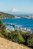 Montagem Rainier And Port 6 foto de stock