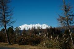 Montagem Ruapehu, do parque nacional, Nova Zelândia. imagem de stock