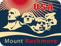 Montagem Rushmore ilustração royalty free