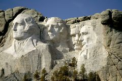 Montagem Rushmore Monumet nacional, o Black Hills, South Dakota. Foto de Stock Royalty Free