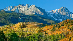 Montagem Sneffel, Ridgeway, Colorado imagens de stock