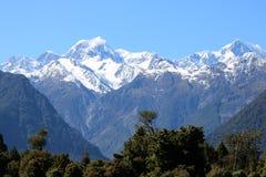 Montagem Tasman e cozinheiro da montagem, cumes do sul, NZ Imagens de Stock Royalty Free