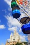 Montagem Tibidabo, Barcelona, Espanha Fotografia de Stock Royalty Free