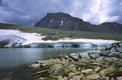 Montagem Tyndall na serra elevada no clima de tempestade Imagens de Stock Royalty Free