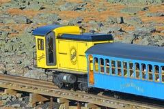 Montagem Washington Cog Railroad, New Hampshire foto de stock