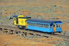 Montagem Washington Cog Railroad, New Hampshire fotografia de stock